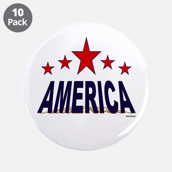 """America 3.5"""" Button (10 pack)"""