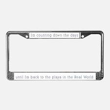 Unique Burning man License Plate Frame