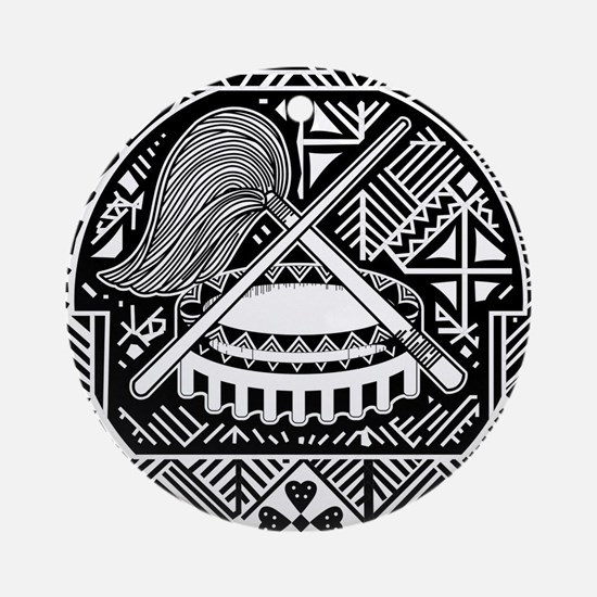 American Samoa Coat Of Arms Ornament (Round)