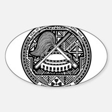 American Samoa Coat Of Arms Sticker (Oval)