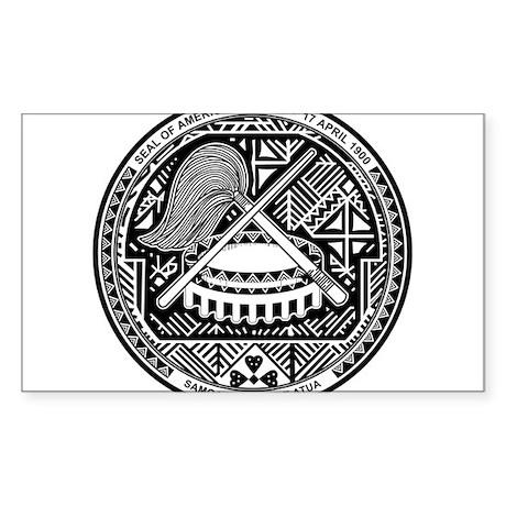 American Samoa Coat Of Arms Sticker (Rectangle)
