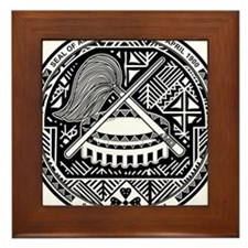 American Samoa Coat Of Arms Framed Tile