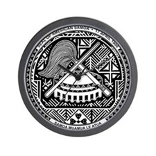 American Samoa Coat Of Arms Wall Clock