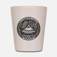 American Samoa Coat Of Arms Shot Glass