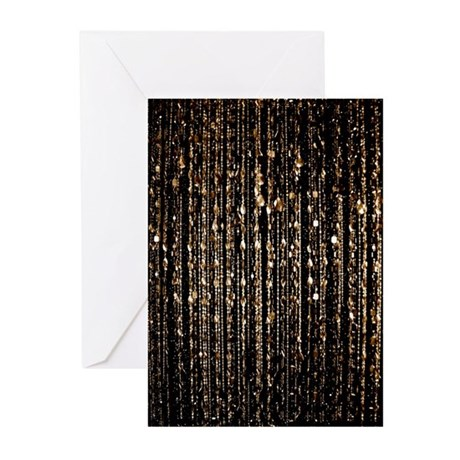 Beads, gold Greeting Cards (Pk of 10)