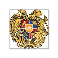 "Armenia Coat Of Arms Square Sticker 3"" x 3"""
