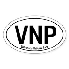 VNP - Volcanoes National Park Oval Decal