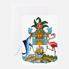 Bahamas Coat Of Arms Greeting Card