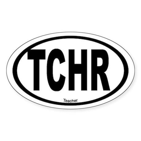 Teacher Oval Sticker