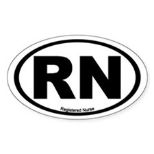 Registered Nurse Oval Stickers