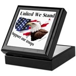 United We Stand Support our t Keepsake Box