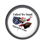 United We Stand Support our t Wall Clock