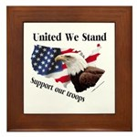 United We Stand Support our t Framed Tile