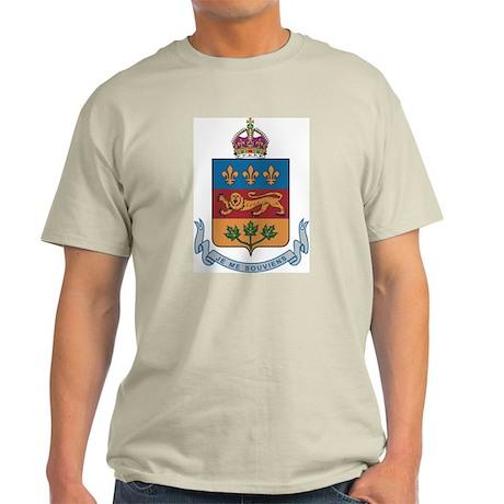 Quebec Coat Of Arms Ash Grey T-Shirt