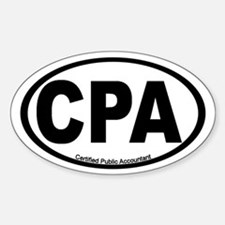 Certified Public Accountant (CPA) Oval Decal
