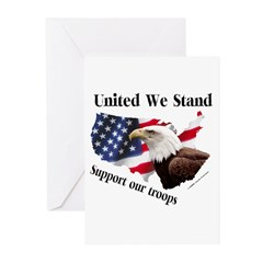 United We Stand Support our t Greeting Cards (Pack