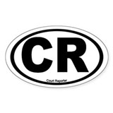 Court reporter sticker Single