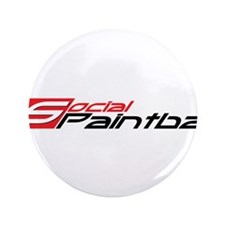 "Social Paintball Black Logotype 3.5"" Button"