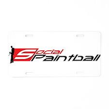 Social Paintball Black Logotype Aluminum License P