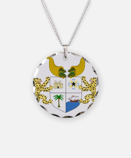 Benin Coat Of Arms Necklace Circle Charm