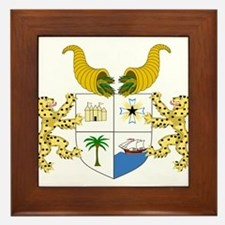 Benin Coat Of Arms Framed Tile