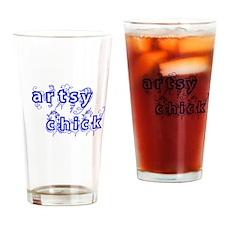 Artsy Chick Drinking Glass