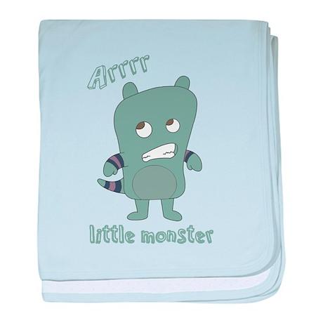 Little Monster Rylan in Blue baby blanket