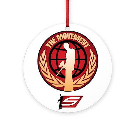 Social Paintball - Emblem Gold Ornament (Round)
