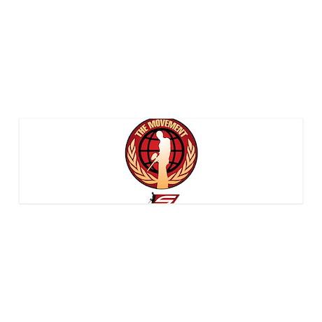 Social Paintball - Emblem Gold 20x6 Wall Decal