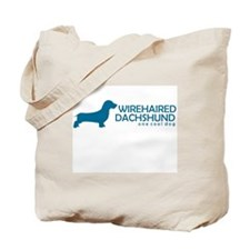 """Wirehaired Dachshund """"One Cool Dog"""" Tote Bag"""