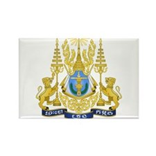 Cambodia Coat Of Arms Rectangle Magnet