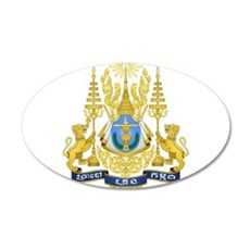 Cambodia Coat Of Arms 20x12 Oval Wall Decal