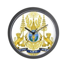 Cambodia Coat Of Arms Wall Clock