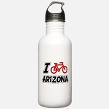 I Love Cycling Arizona Water Bottle