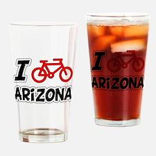 I Love Cycling Arizona Drinking Glass