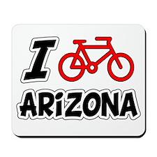 I Love Cycling Arizona Mousepad