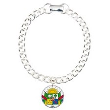Central African Republic Coat Of Arms Charm Bracel