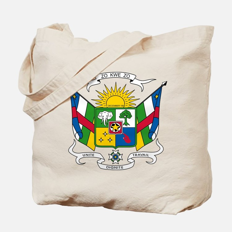 Central African Republic Coat Of Arms Tote Bag