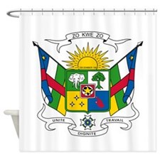 Central African Republic Coat Of Arms Shower Curta