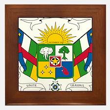 Central African Republic Coat Of Arms Framed Tile