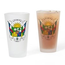 Central African Republic Coat Of Arms Drinking Gla