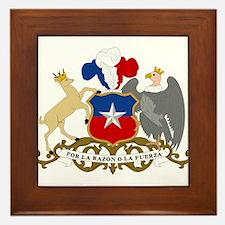 Chile Coat Of Arms Framed Tile