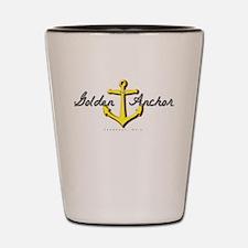 Golden Anchor Shot Glass