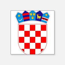 "Croatia Coat Of Arms Square Sticker 3"" x 3"""