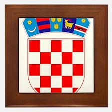 Croatia Coat Of Arms Framed Tile