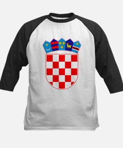 Croatia Coat Of Arms Kids Baseball Jersey