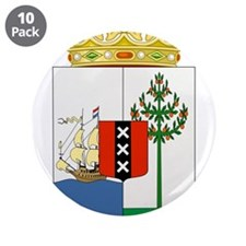 "Curacao Coat Of Arms 3.5"" Button (10 pack)"