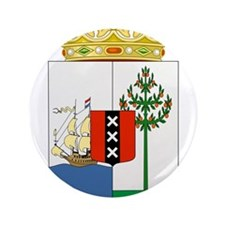 """Curacao Coat Of Arms 3.5"""" Button"""