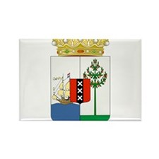 Curacao Coat Of Arms Rectangle Magnet