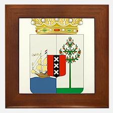 Curacao Coat Of Arms Framed Tile